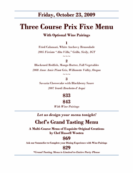 Russells-prix-fixe-menu-aug-2013 russell's | a restaurant with.